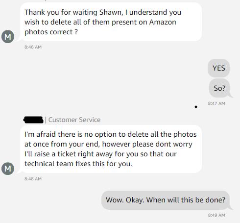 Delete All Amazon Photos