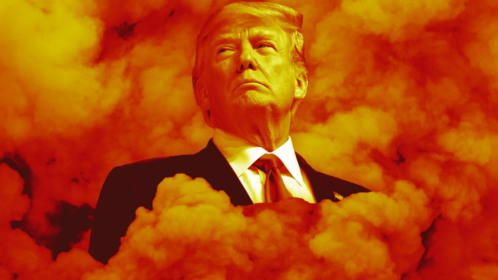 Trump in Smoke Courtesy of Daily Beast