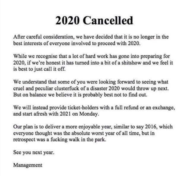 2020 Canceled by Ozzie Man Reviews