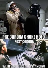 Social Distancing Vader Choke Hold