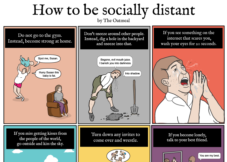 How to be Socially Distant by Oatmeal