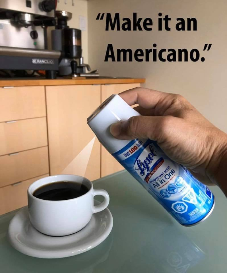 Americano with Bleach