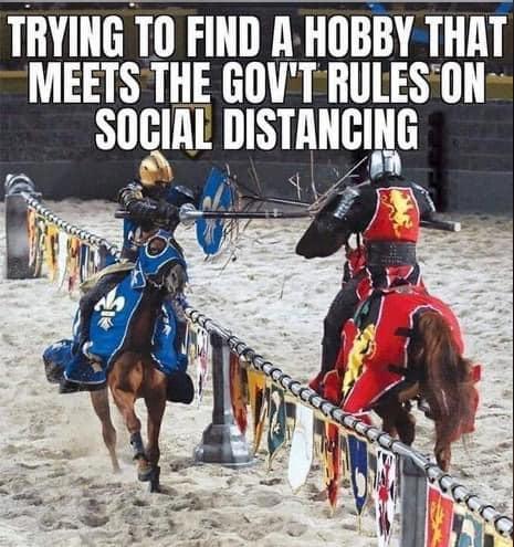Social Distance Jousting