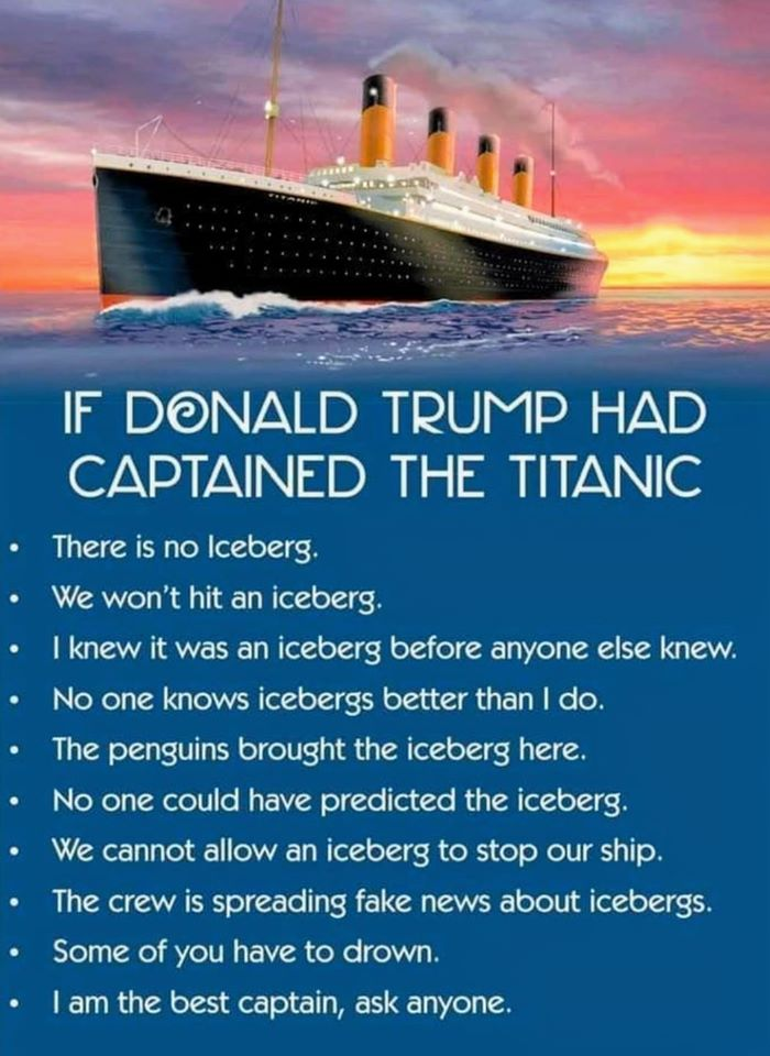 If Trump Captained the Titanic