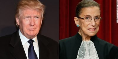 Trump Ginsburg Courtesy of CNN