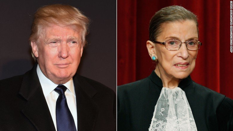 Trump Ginsburg Courtesy of CNN